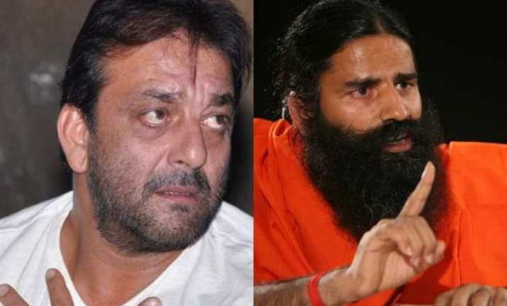 when ramdev baba gave surprise visit to sanjay dutt in jail