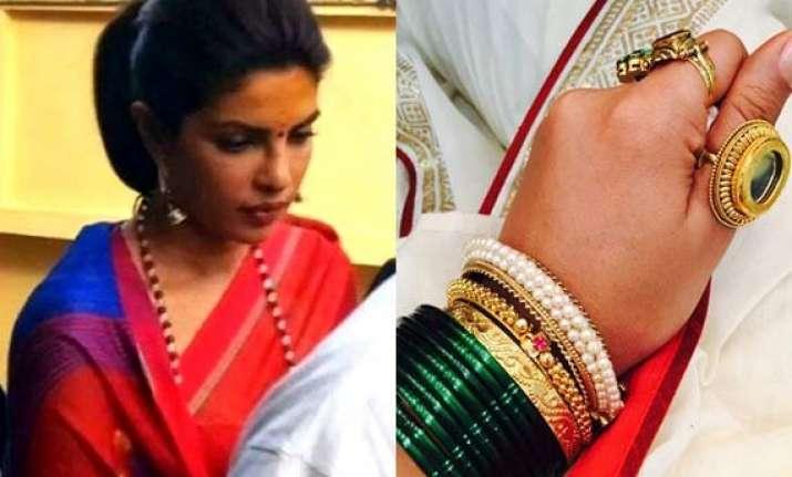 leaked priyanka ranveer s royal marathi look for bajirao