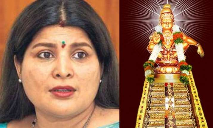 actress jaimala to be charged for touching ayappa idol in