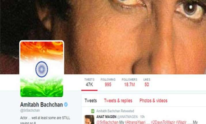 big b changes profile picture to indian flag after