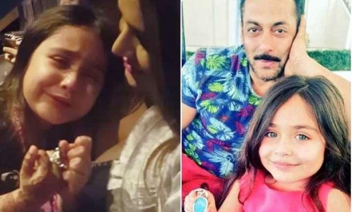 pics salman meets little girl who had cried aloud after