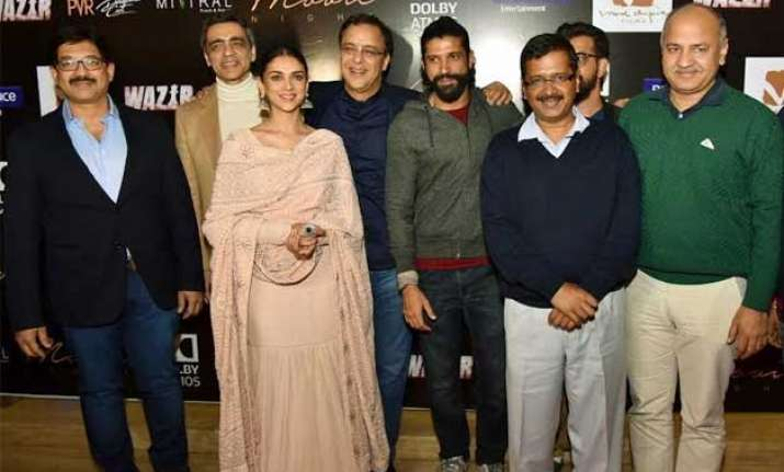 special screening of wazir for arvind kejriwal