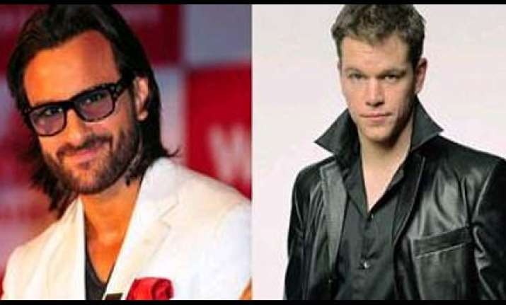 matt damon inspires saif s look in agent vinod