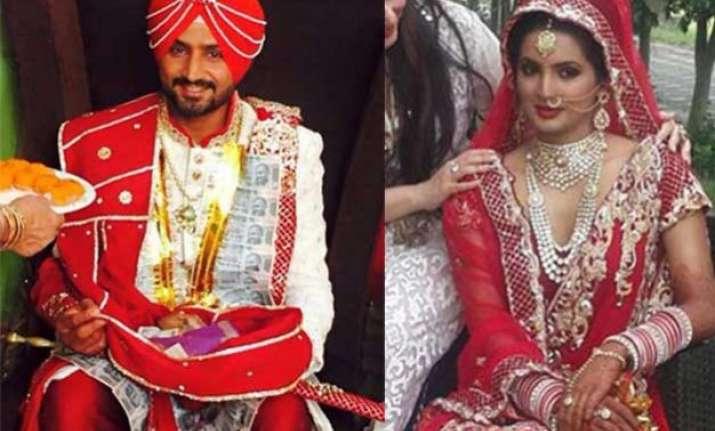 in pics harbhajan singh and geeta basra s stunning wedding