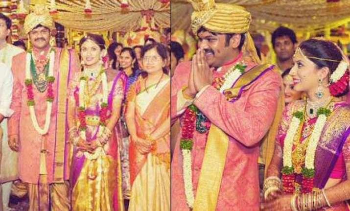 actor manchu manoj marries pranathi reddy see pics