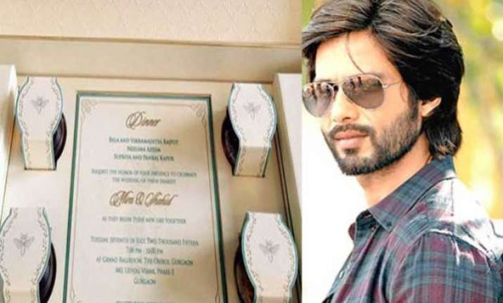 shahid mira wedding know how shahid kapoor designed his