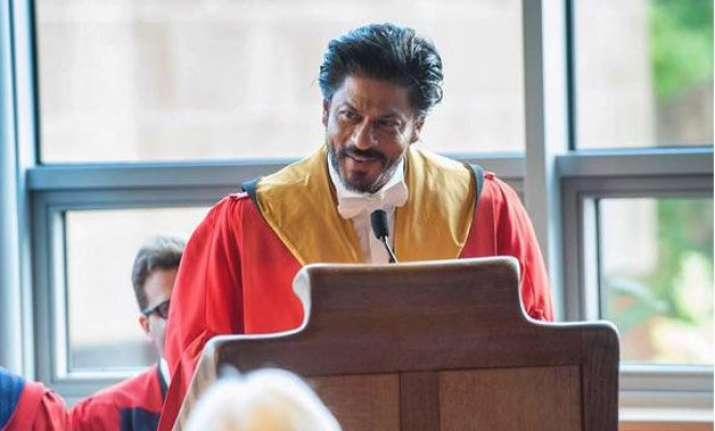 shah rukh khan at edinburgh to speak on life lessons