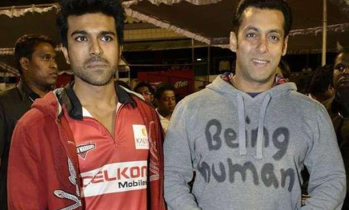 woah salman khan to work with telugu superstar ram charan