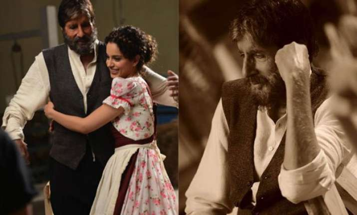 amitabh bachchan excited to work with the talented kangana