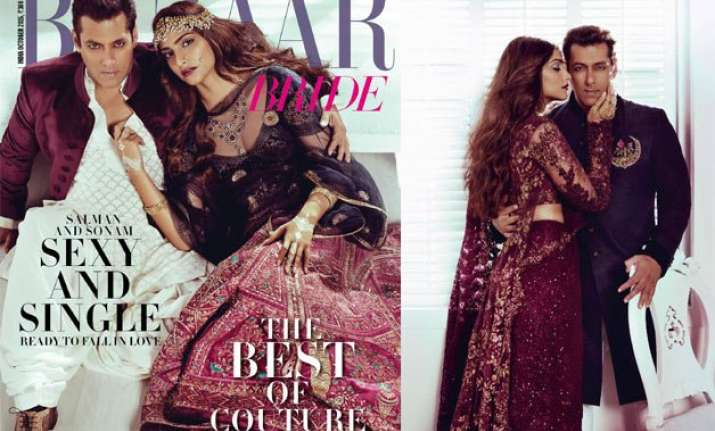 salman khan and sonam kapoor spill hotness on magazine