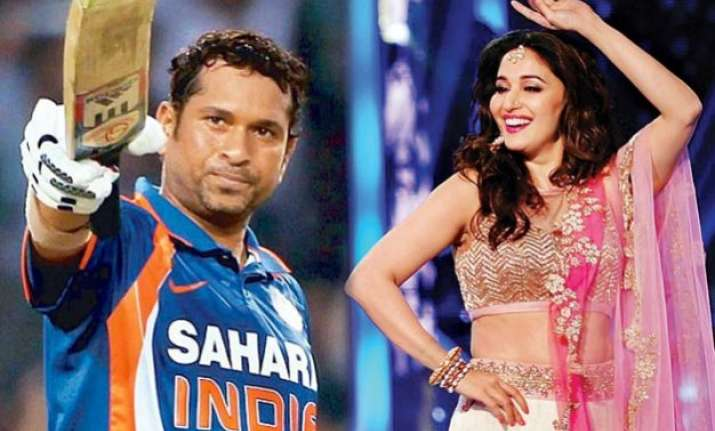 watch sachin tendulkar and madhuri dixit promote make in