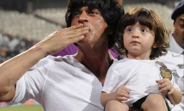 adorable shah rukh s son abram drives car with rohit shetty