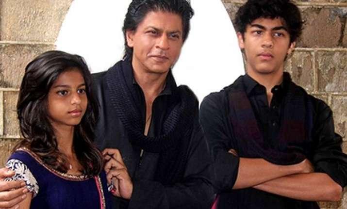 shah rukh khan s kids are not safe around him