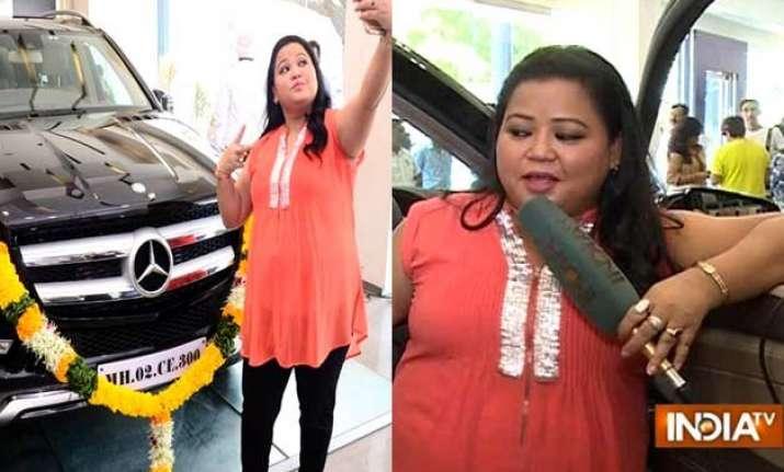 comedian bharti buys black mercedes benz