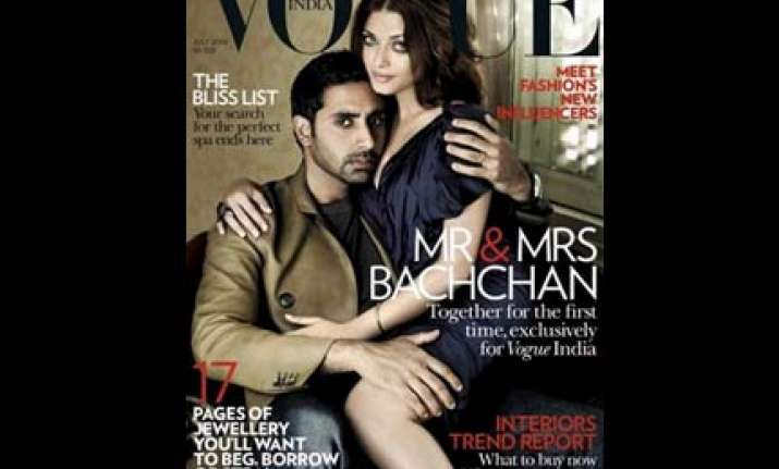 ash abhi get cosy on vogue cover