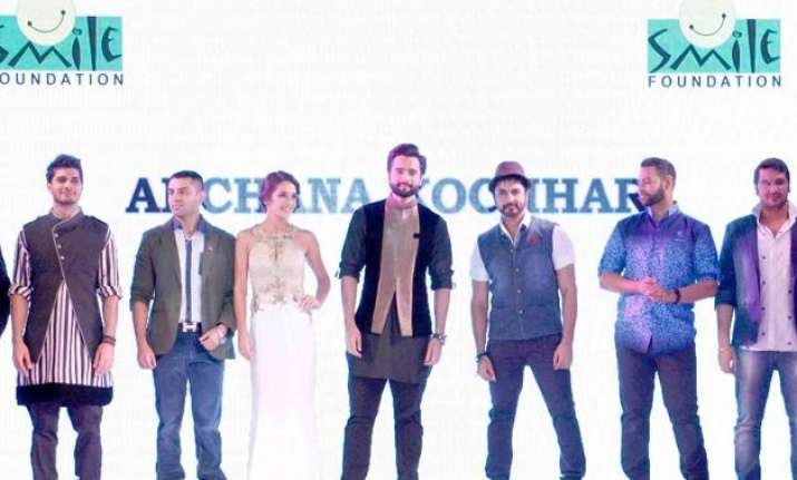 bollywood walks the ramp for smile foundation