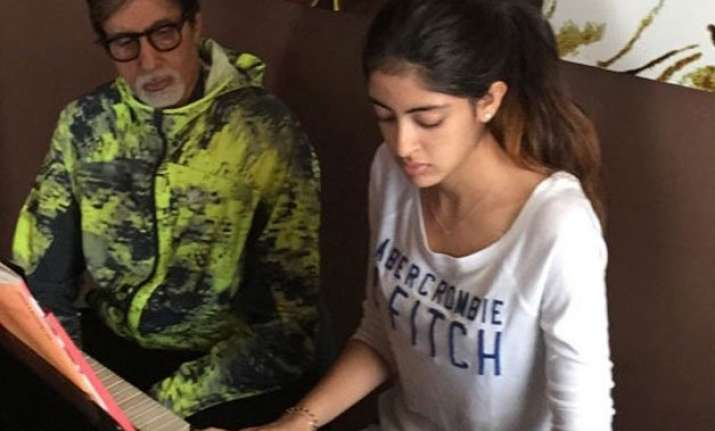 not bollywood amitabh s granddaughter navya to debut in