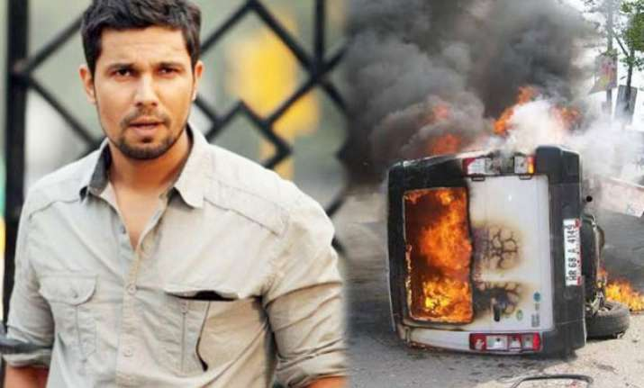 jat agitation randeep hooda appeals jats to have peaceful
