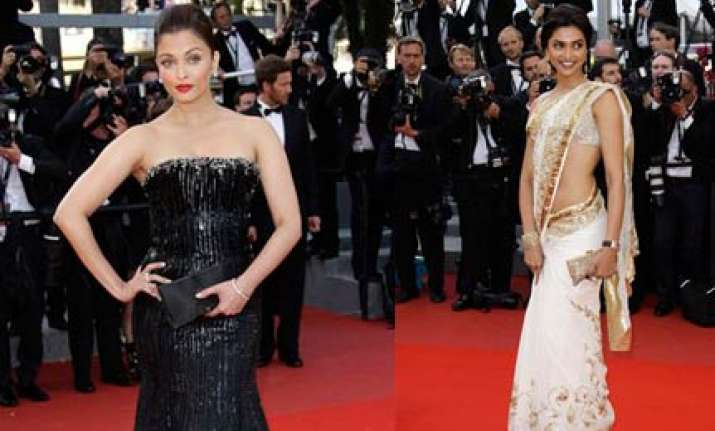 Deepika\'s Saree Vs Ash\'s Gown At Cannes | Bollywood News – India TV