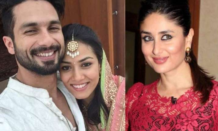 shahid kapoor reveals why he married mira and not kareena