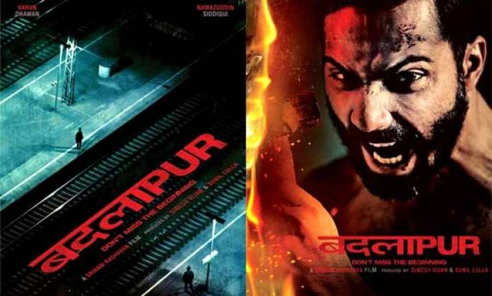 badlapur poster out rugged and forceful varun dhawan looks
