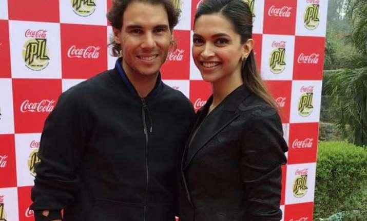 Image result for deepika padukone and Rafael Nadal