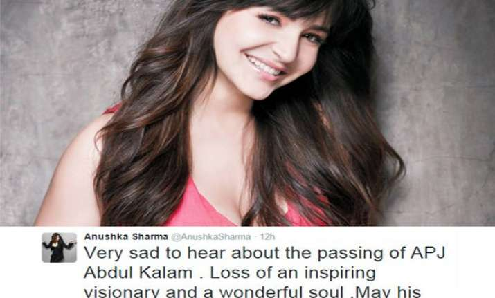 anushka sharma apologises for her tweet on late dr. kalam