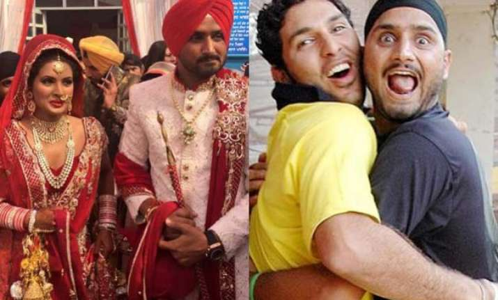 this is how yuvraj wished bff bhajji on his wedding