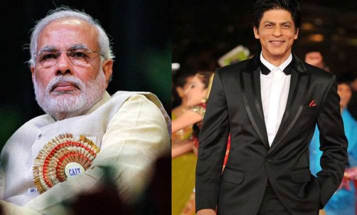 comparison with narendra modi a compliment shah rukh khan