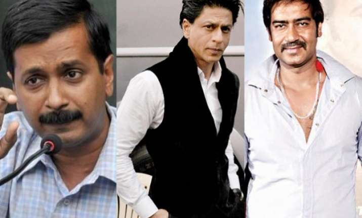 kejriwal wants srk ajay devgn to stay away from pan masala