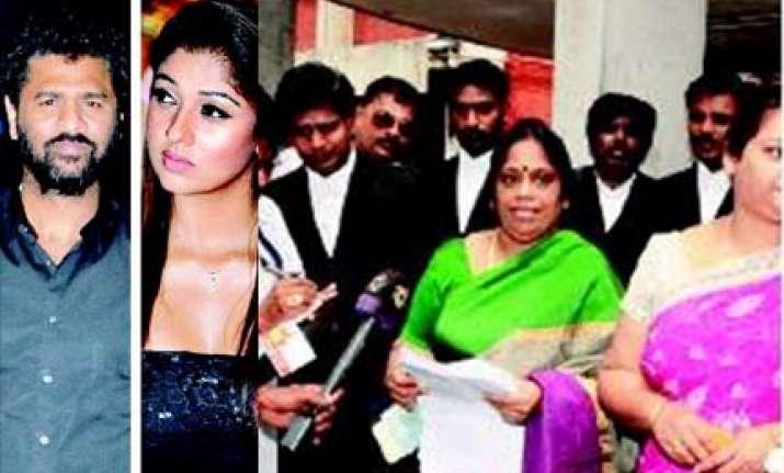 wife challenges prabhu deva s extra marital relationship in
