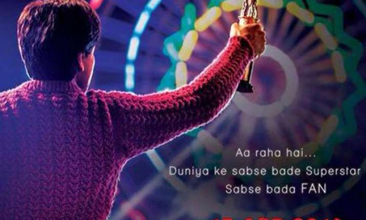 revealed a look at shah rukh khan s fan teaser poster