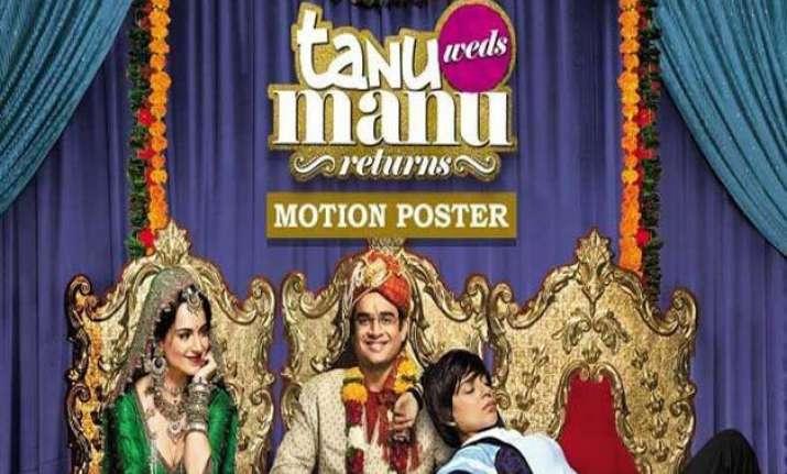 kangana unveils tanu weds manu returns poster on birthday