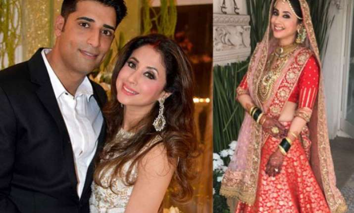 in pics grand wedding reception of urmila matondkar and