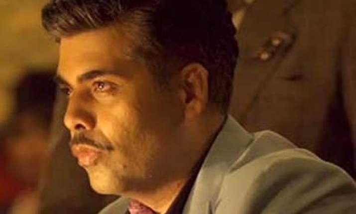 karan johar gets emotional due to his moustache look in