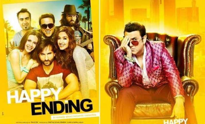 happy ending poster saif ali khan in double role