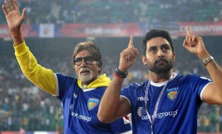 big b to cheer for abishek s isl team chennaiyin fc