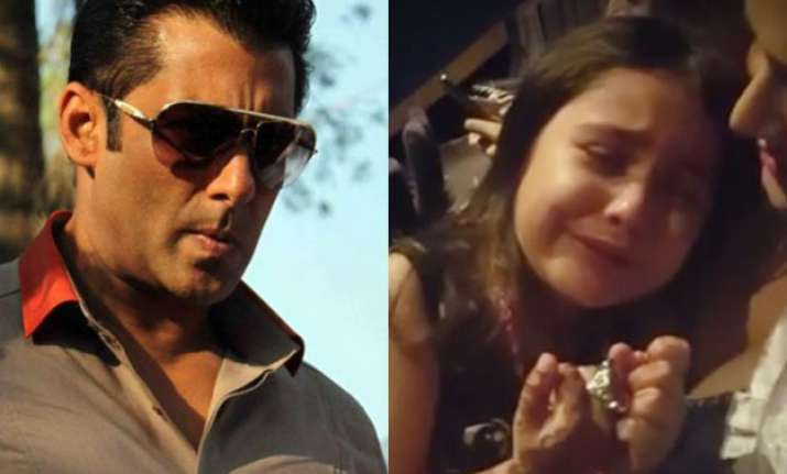 why did salman khan make a 5 year old girl cry