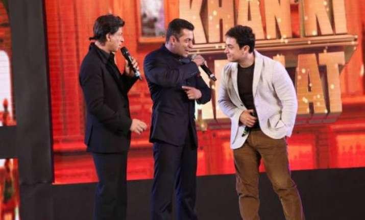 farah khan on bringing three khans shah rukh salman and