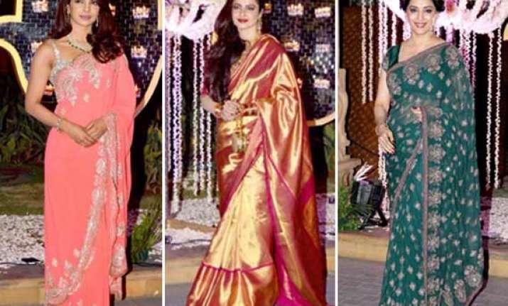 priyanka rekha madhuri grace rriddhi malhotra s wedding