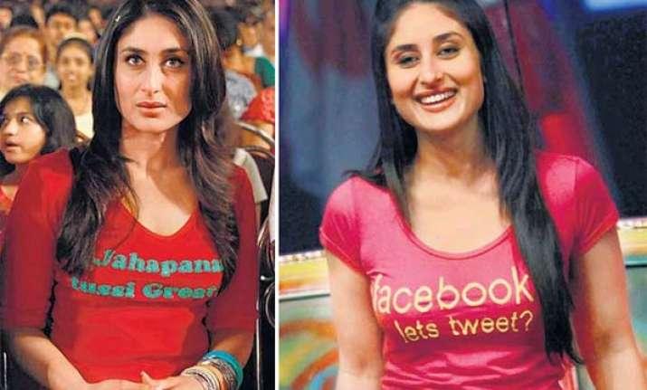 kareena wears message t shirts