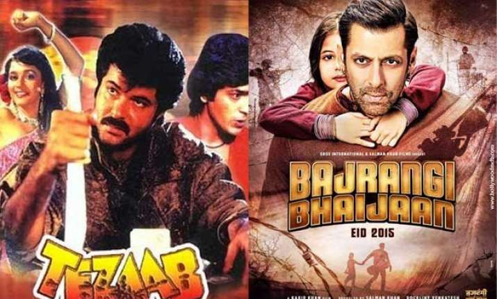 tezaab to bajrangi bhaijaan highest grossing films from