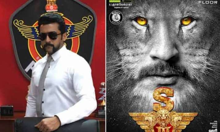 surya s singam 3 is now s3 first look posters rolled out