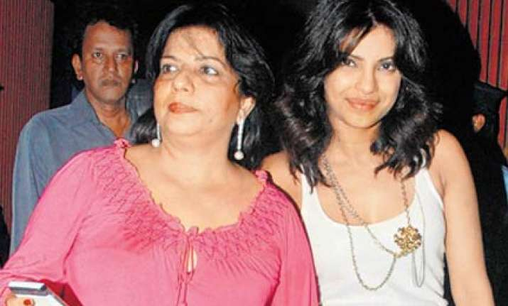 priyanka jets in to london from berlin to give mom company