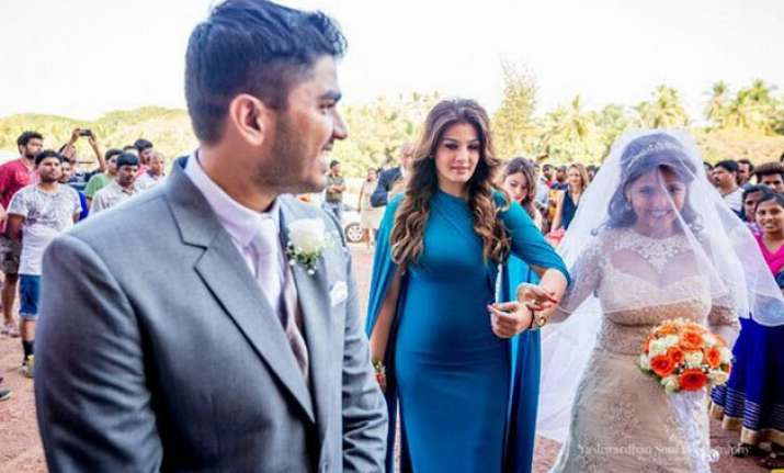 unseen pics raveena tandon s daughter ties knot in fairy