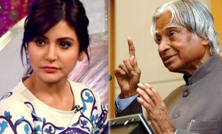 anushka sharma paid tribute to dr. abdul kalam with wrong