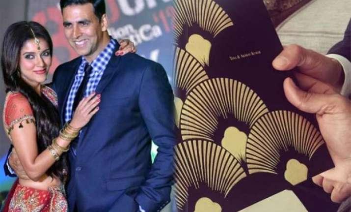 asin extends first wedding invite to akshay kumar makes him