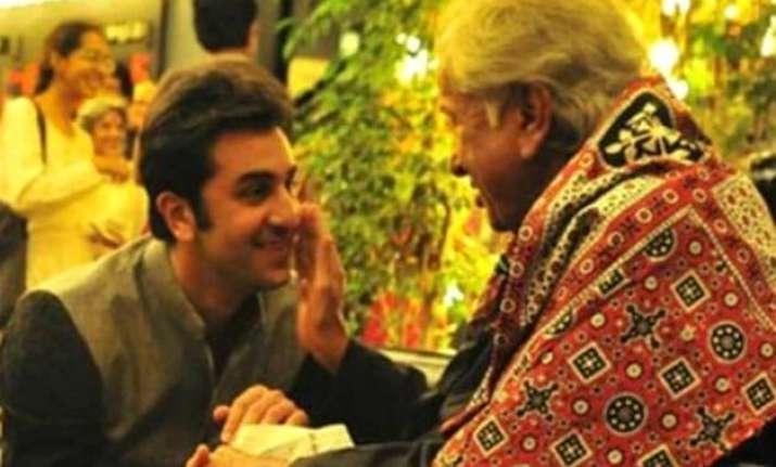 ranbir kapoor s emotional tribute to uncle shashi kapoor