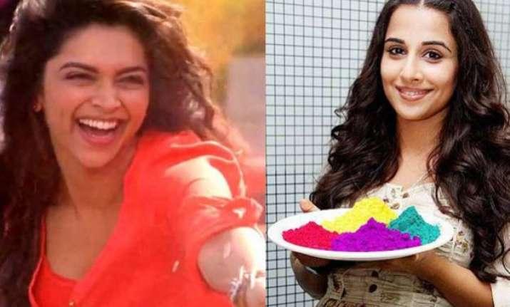 here s how vidya deepika and kriti will celebrate holi this