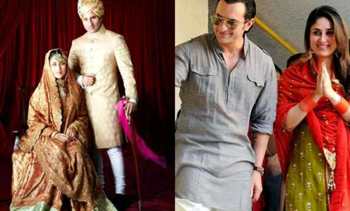 saif kareena 2nd anniversary rare wedding pics